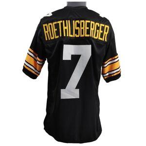 🔥 Ben Roethlisberger UNSIGNED CUSTOM Sewn Stitched Black Jersey M L XL 2XL 3XL