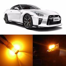 Alla Lighting Front Turn Signal Light 7440NA Amber LED Bulbs for Nissan GT-R GTR