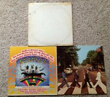 THE BEATLES 3 LP Lot: The White Album, Magical Mystery Tour, Abbey Road