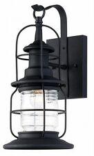 3 Pack Black Outdoor Wall Mount Jelly Jar Lantern Lights! Exterior Glass Lot