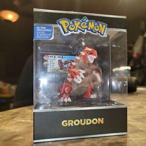 "Pokemon GROUDON Legendary Figure Trainer's Choice Tomy 2015 ID Tag 4"" NEW BOX"