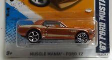 2012 Hot Wheels Muscle Mania cupé Ford Mustang'67 ** ** error ruedas no coincidentes