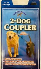 Yuppie Puppy 2-DOG COUPLER Black Adjustable Walk 2 Dogs of Different Sizes-E13