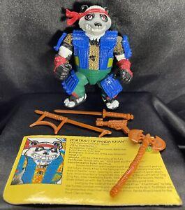 TMNT Teenage Mutant Ninja Turtles 1990 Panda Khan Figure • 100% Complete RARE!