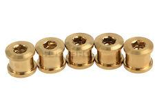 ROCKBROS Titanium Ti Crankset Chainring Bolts & Nuts 5 Pcs Golden