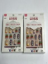 (2) KISS THE COLLECTION NAILS CHEVRON AZTEC INSPIRED MEDIUM LENGTH KIT  SSC03