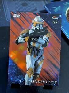 2018 Topps Star Wars Finest Commander Cody RED 2/5 FREE SHIPPING!!!