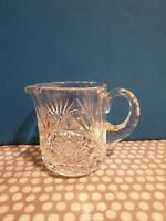 Vintage Lead Crystal Cut Glass Creamer. Weight 345gm.