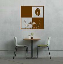 Wall Vinyl Sticker Bedroom Design coffee cup kitchen breakfast tea table bo2726