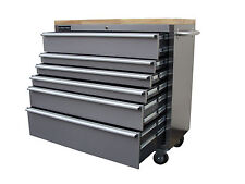 "127 US PRO TOOLS ROLLER CABINET TOOL CHEST BOX STAINLESS STEEL 42"" BUY FINANCE"
