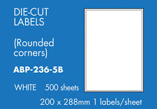 Hovat Multi-Purpose 1 to view. 200 x 288 mm Self adhesive label ( 500 Sheets )