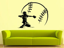 Wall Decal Vinyl Baseball Player Sport Extrime Play room Kids Bedroom r1420