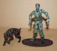 Resident Evil Biohazard Soldier Zombie with Dog Hund Palisades Action Figure