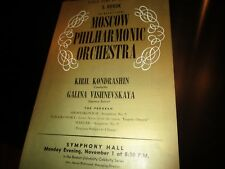 Moscow Philharmonic-1st Time in America-Symphony Hall-11/01/1965-Kiril & Galina