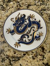 """Fitz And Floyd Ching Dragon Salad Plates Blue Rare 7 1/2"""" New w/ original Boxes."""