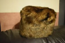 Brown Faux Fur Winter Russian Style Hat Size S/M
