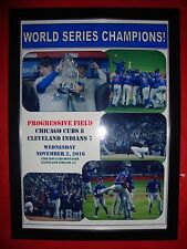 More details for chicago cubs 8 cleveland indians 7 - cubs win world series - framed print