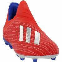 adidas X 18+ Firm Ground (Little Kid/Big Kid)  Casual Soccer  Cleats Red Boys -
