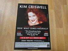 Kim CRISWELL Live Concert Doin' What Comes Naturally Debut SHAW Theatre Poster