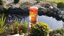Design  Teich Glas Fischturm Fischsäule Goldfischrohr Gartenteich
