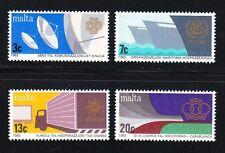 Malta 1983 MNH Sc 629-632 World Communications Year.Ships,trucks.