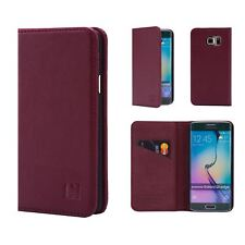 32nd Classic Series - Real Leather Book Wallet Case For Samsung Galaxy S6 Edge