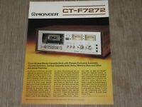 Pioneer CT-F7272 Stereo Cassette Tape Deck Original Catalogue  printed in Japan