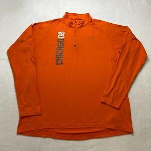 Nike Fit Dry Chicago 08 Full Zip Long Sleeve Shirt Size XL Orange Athletic Mens