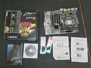 ASRock H77M Motherboard i5-3470S Quad Core CPU 8GB RAM I/O Shield Bundle