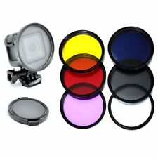 58mm Lens Filter CPL UV ND2 Red Yellow Purple Filter for Gopro Hero 4 Session