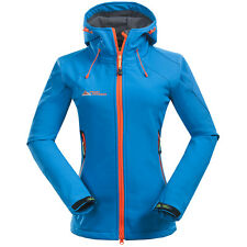 Fashion Women Soft Shell Hooded Outdoor Jacket Breathable Warm Golf Coat Outwear