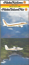 Aloha Airlines system timetable 4/2/89 [8051] Buy 2 Get 1 Free