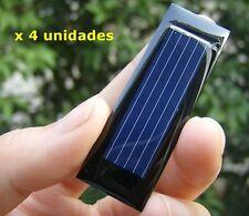 Placa solar 0,5 V y 100 mAh Panel solar (x 4 unidades)