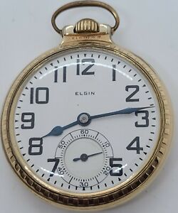 Antique 1925 ELGIN 21J B.W. Raymond 12K GF Railroad Grade 478 Pocket Watch 16s