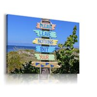 SIGNPOST BEACH SEA PERFECT View Canvas Wall Art Picture Large  L257  X MATAGA .