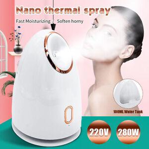 220V 280W Facial Hot Steam Thermal Sprayer Nano Ionic Face Salon Spray Steamer