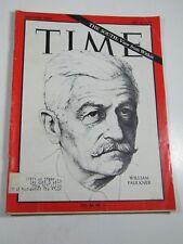 Time Magazine- July 17, 1964- William Faulkner