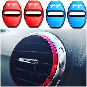 Audi TT Mk2 / 8J Red vent rings set of 5 + Set of TT  door lock covers 4 colours