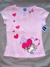 tee shirt coton rose neuf etiqueté disney panpan taille S