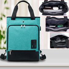 Mens Womens Laptop Rucksack Work Travel School Bags With USB Charging Port Green