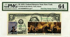 $2 DOLLARS 1976 FIRST DAY STAMP CANCEL DECLARATION OF INDEPENDENCE $10000