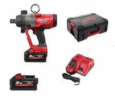 Milwaukee M18 ONEFHIWF1-802X Battery Impact Wrench 2 x 8.0 Ah charger, side hand