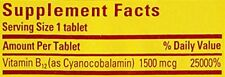 Nature Made VitaMelts Fast Dissolve Energy Vitamin B12 1500 mcg 100 ct