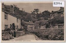 B2994cgt UK Castleton River Styx and Cottages Pashley vintage postcard