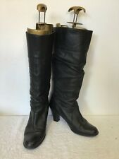 JIGSAW BLACK LEATHER SLOUCH BOOTS SIZE 4/37