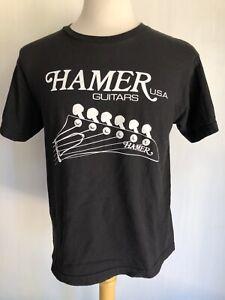 HAMER GUITARS U.S.A. Official Men's Rock N' Roll Logo T-Shirt Size Medium