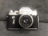 Vintage Camera Zenit 3M + Industar-50 3.5 /50 M39 USSR