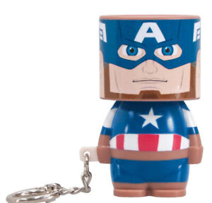 Captain America Marvel Clip On Mini Look A Lite Torch Keyring⭐️LED⭐️GIFT⭐️NEW