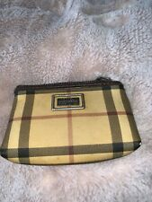 100 % Authentic Stunning BURBERRY Checked Mini Coin  Purse Beige Red Black