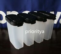 Tupperware Large Spice Shaker 1 cup / 250ml Black Seal Set of 4 New
